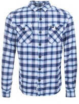 Superdry Milled Flannel Check Shirt Blue