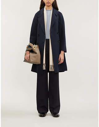 Max Mara S Aronaci double-breasted notch-lapel wool coat