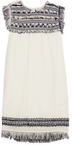 Sea Fringed Embroidered Cotton-Muslin Tunic
