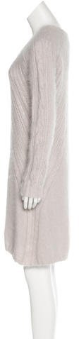 Nina Ricci Cable Knit Angora Dress