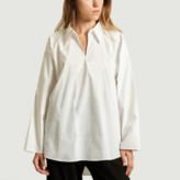 Maison Margiela White Oversized Blouse Top - IT38 = 34 | cotton | white - White/White