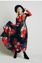 Free People Womens FIRST KISS PRINT MAXI