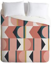 Deny Designs The Old Art Studio Maximalist Geometric 01 Duvet Cover Set, Queen