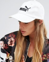 Puma White Classic Logo Snapback Cap