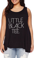 Boutique + Boutique+ Sleeveless Graphic Swing Tee - Plus