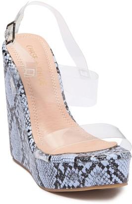 Chase & Chloe Paul Platform Wedge Sandal