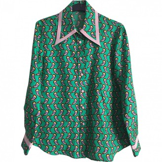Etro Green Silk Top for Women