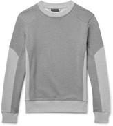 Belstaff Matterley Two-tone Loopback Cotton-jersey Sweatshirt