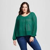 Merona Women's Plus Size Textured Feminine Top