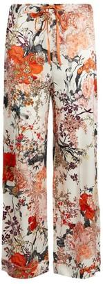 MENG Floral Silk Satin Pyjama Trousers