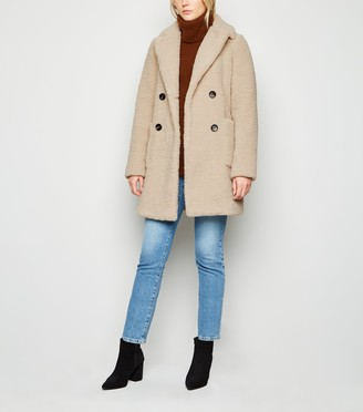New Look Tall Longline Teddy Coat