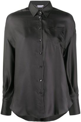 Brunello Cucinelli Long-Sleeved Silk Shirt