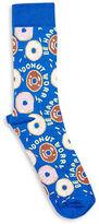 Topman Doughnut Worry Slogan Socks