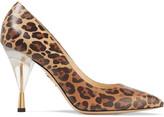 Charlotte Olympia Juliette leopard-print leather pumps