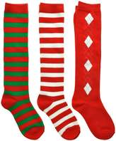 Angelina 3-Pack Kids Unisex Christmas Knee-High Cotton Socks, _1-3
