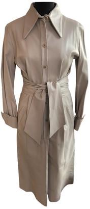 Bally Beige Leather Coat for Women
