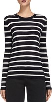 Whistles Annie Sparkle Striped Knit Top