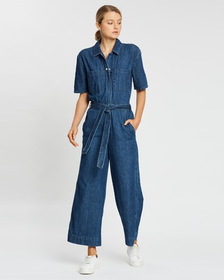 Gap SS Belted Jumpsuit