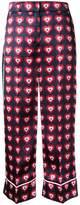 Fendi heart print pyjama trousers