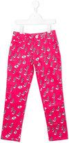 Kenzo printed trousers - kids - Cotton/Spandex/Elastane - 3 yrs