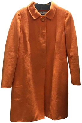Prada Orange Wool Coats