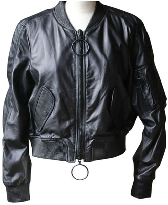 Off-White Off White Black Leather Jackets