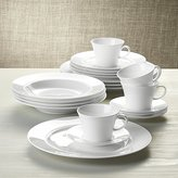 Crate & Barrel White Pearl 20-Piece Dinnerware Set