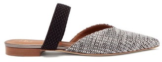 Malone Souliers Maisie Point-toe Woven Mules - Silver