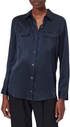 Equipment Signature Silk Button Up Silk Shirt