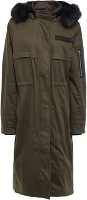 Maje Faux Fur-lined Cotton-blend Hooded Parka