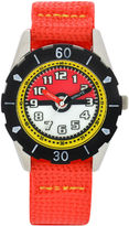 Character Boys Red Strap Watch-Pok3129jc