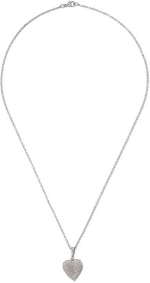 Kiki McDonough 18kt white gold Lauren diamond mini leaf pendant necklace