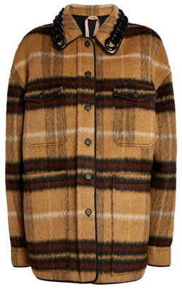 No.21 N21 Oversized Check Jacket