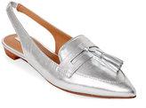 Tahari Silver Pacer Tasseled Slingback Loafers
