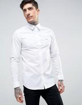 Lacoste Slim Fit Shirt Stretch Poplin in White