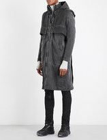 Boris Bidjan Saberi Layered cotton parka coat