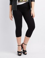 Charlotte Russe Plus Size High-Rise Cropped Leggings
