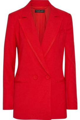 Rachel Zoe Giorgia Double-breasted Woven Blazer
