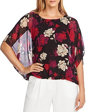 Vince Camuto Enchanted Floral Batwing Top - 100% Exclusive