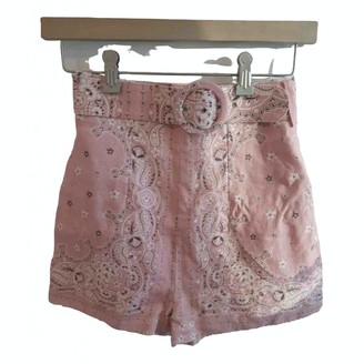 Zimmermann Pink Cloth Shorts for Women