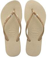 Havaianas Slim Crystal Glamour, Women's Flip-Flops, Beige (/Light Golden 2719), (33/34 Brazilian) (35/36 EU)