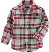 Osh Kosh Oshkosh Short Sleeve Button-Front Shirt Boys