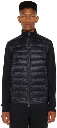 Moncler Quilted Nylon Tricot Down Sweater