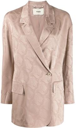 Fendi single-breasted jacquard blazer