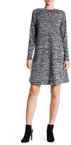 Bobeau Long Sleeve Crew Neck Swing Dress