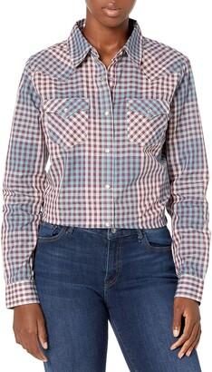 Wrangler Women's Long Sleeve Western Snap Shirt