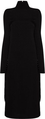 Rotate by Birger Christensen Fringe Detail Midi Dress