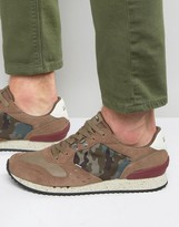 Tommy Hilfiger Tommy Denim Barton Camo Runner Sneakers