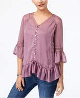 Style&Co. Style & Co Asymmetrical Flounce Blouse, Available in Regular & Petite Sizes, Created for Macy's