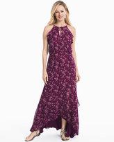 White House Black Market Printed Hi-Lo Maxi Dress